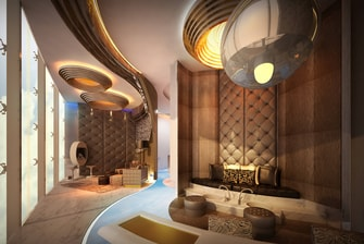 Rendering Iridium Spa Beauty Area