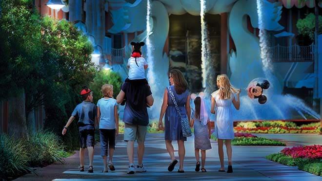 Familie im Walt Disney World Swan und Dolphin