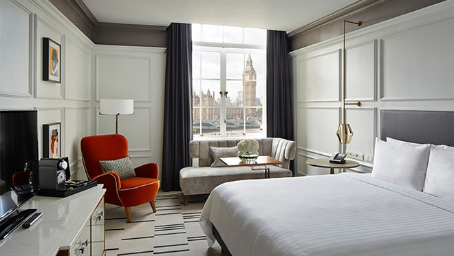 London Marriott Hotel County Hall - Chambre avec vue sur Big Ben
