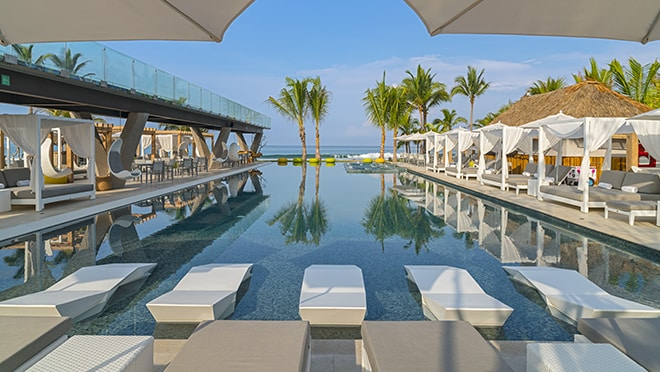 Pool view at the W Punta de Mita